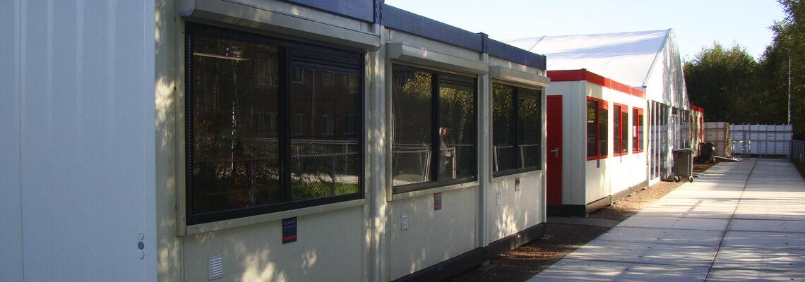 Jan Snel Noodwoning gebruikt voor klaslokalen
